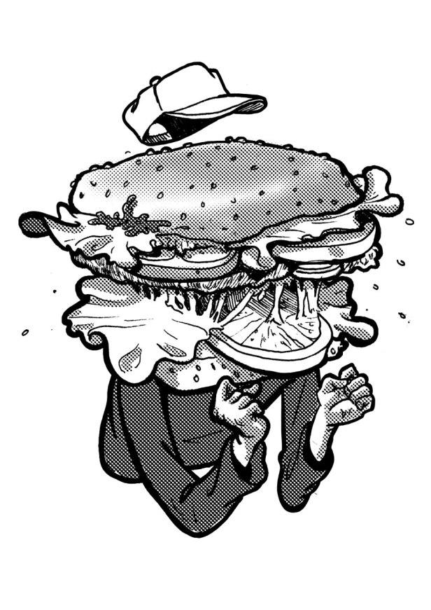 hamburger head